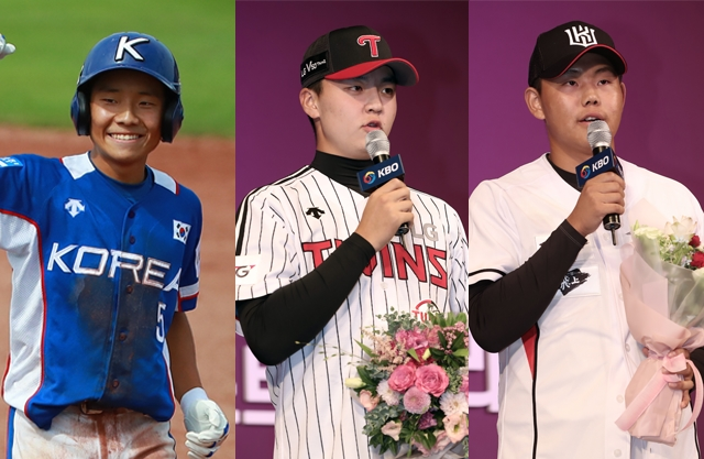 (왼쪽부터) 김지찬·이민호·소형준. 연합뉴스·IS포토