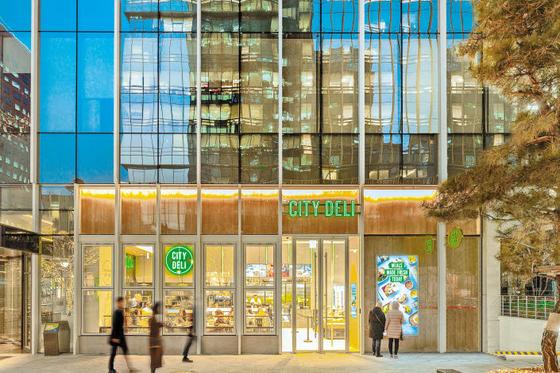 SPC삼립이 서울 광화문 타워8에 개장한 시티델리 전경. 캐주얼 레스토랑과 편의점의 장점을 결합한 새로운 형태의 매장이다. [사진 SPC삼립]