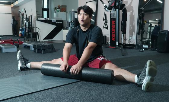 강백호는 내년 올림픽 금메달과 더 많은 홈런을 위해, 휴식도 반납하고 일찌감치 개인 훈련을 시작했다. 최승식 기자