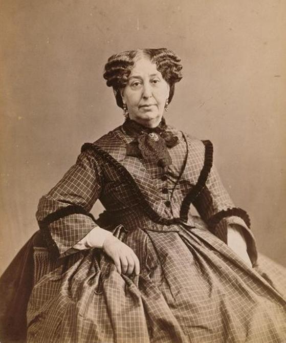 조르주 상드. Nadar의 사진. 1860년. 오르세이 미술관 소장. [사진 Wikimedia Commons]