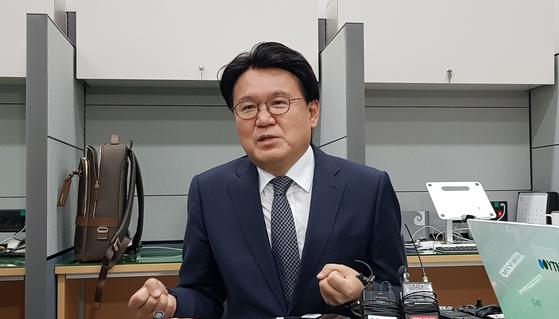 황운하 대전지방경찰청장. 신진호 기자
