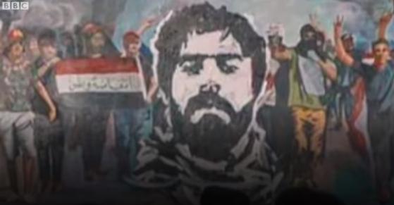 영국 BBC는 지난 25일 최루탄에 맞아 숨진 사파 알 사라이가 이라크 시위의 '얼굴'이 됐다고 전했다. [BBC 캡쳐]