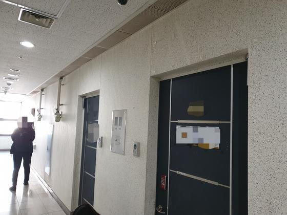 백원우 전 청와대 민정비서관 휘하에서 행정관으로 근무했던 검찰 수사관 A씨가 1일 오후 숨진채 발견된 서울 서초동의 한 사무실. 이병준 기자