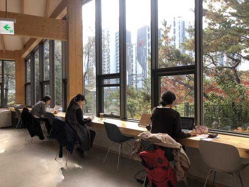 지난 10월에 서울 전농동에 문을 연 배봉산 숲속 도서관. 설계는 아틀리에 리옹 서울(담당 심훈용. 현지호)에서 했다. [사진 아뜰리에 리옹 서울 ]