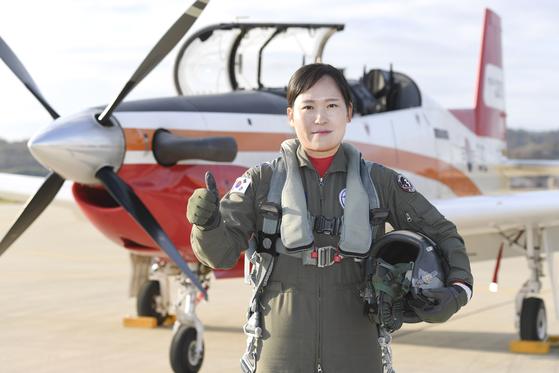 여군 최초 비행대대장 중 제3훈련비행단 236비행교육대대장 편보라 중령 [사진 공군]