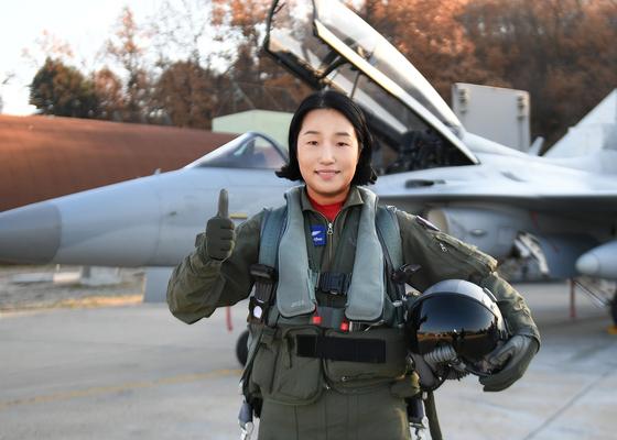 여군 최초 비행대대장 중 제16전투비행단 202전투비행대대장 박지연 중령 [사진 공군]