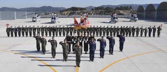 해병대사령부가 지난달 29일 경북 포항의 해병 1사단 전투연병장에서 1항공대대 창설식을 했다고 2일 밝혔다. [사진 해병대]