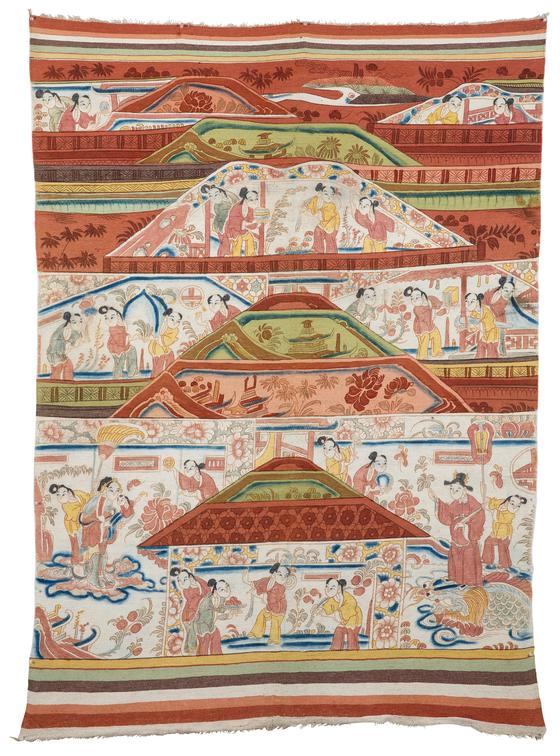 조선시대 카펫인 조선철. 고미술상인들이 일본에서 사들여온 것이다. [사진 고미술협회 종로지회]