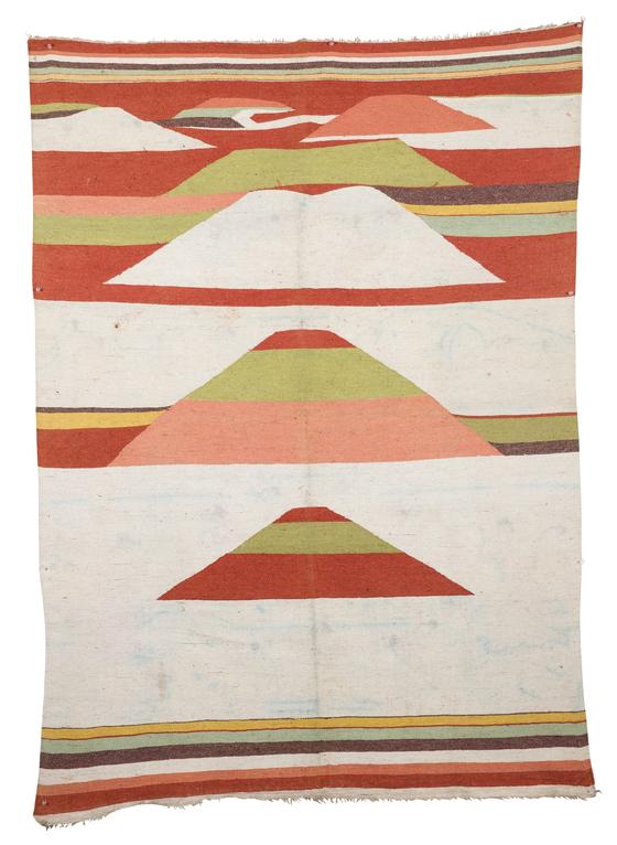 조선철이라 불리는 조선시대 카펫. 고미술 상인들이 일본에서 구입해왔다. [사진 고미술협회 종로지회]