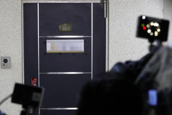 백원우 전 청와대 민정비서관 휘하에서 근무했던 검찰 수사관 A씨가 1일 오후 숨진채 발견된 서울 서초구 한 사무실. [연합뉴스]