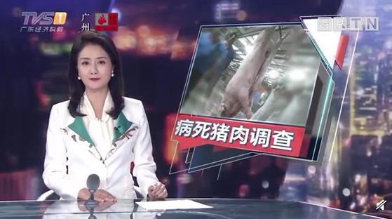 [중국매체 TVS 보도 화면 캡처=연합뉴스]
