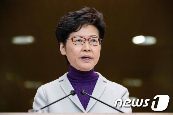 캐리 람 홍콩 행정장관. [AFP=뉴스1]