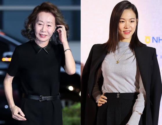 배우 윤여정과 한예리. [일간스포츠, 연합뉴스]
