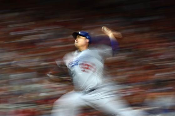 류현진은 MLB FA 시장에서 콜, 스트라스버그와 함께 빅3로 꼽힌다. [AFP=연합뉴스]