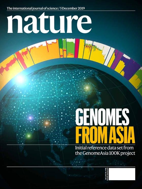 국제학술지 네이처가 12월 최신호 표지에 마크로젠이 주도하는 국제 컨소시엄 '게놈아시아 100K 이니셔티브'의 연구성과를 소개했다.