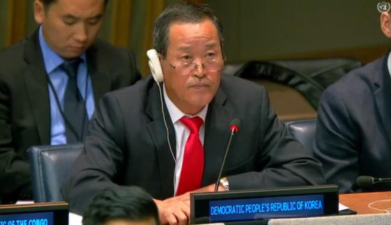 김성 북한 유엔대표부 대사.[중앙포토]