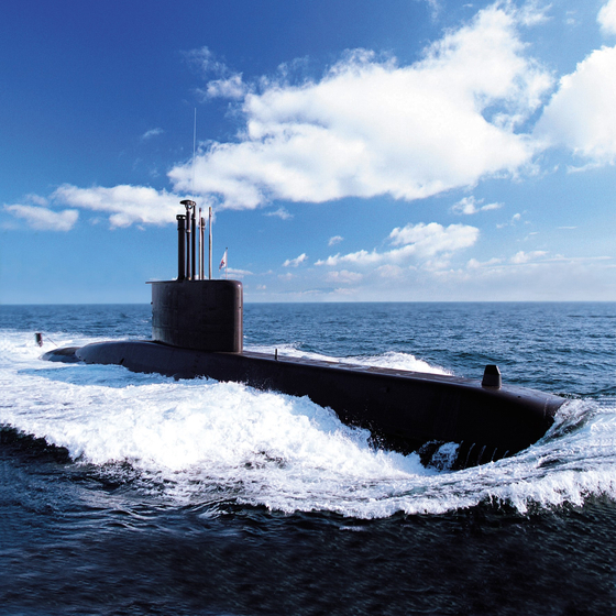 대우조선해양이 건조한 잠수함. [사진 대우조선해양]