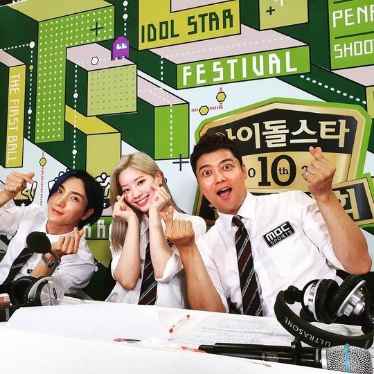 방송인 전현무·트와이스 다현·슈퍼주니어 이특(오른쪽부터)