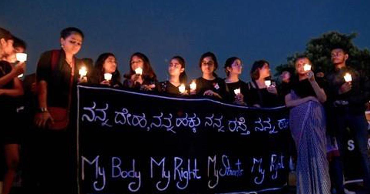 인도 성폭력 피해 여성을 위한 촛불시위. [AFP=연합뉴스]
