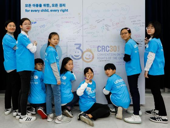 대담 후에는 참여 아동들이 각자 아동권리에 대한 한마디를 자유롭게 적었다.