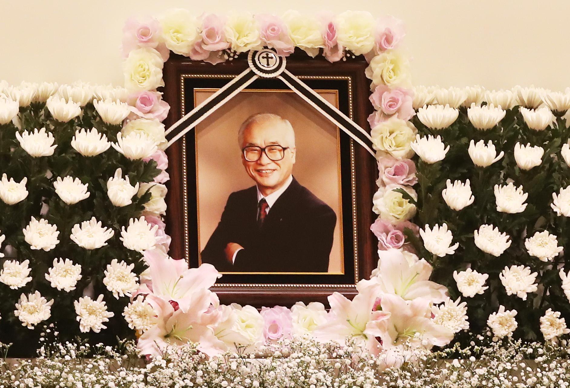 숙환으로 별세한 김우중 전 대우그룹 회장의 빈소가 10일 수원시 아주대병원 장례식장에 마련됐다. [연합뉴스]