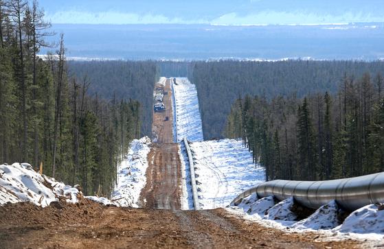 러시아와 중국을 잇는 약 3000km의 파이프라인가스(PNG)인 '파워 오브 시베리아(Powe of Siberia·POS1)'가 지난 2일 가동을 시작했다. [사진 가스프롬]