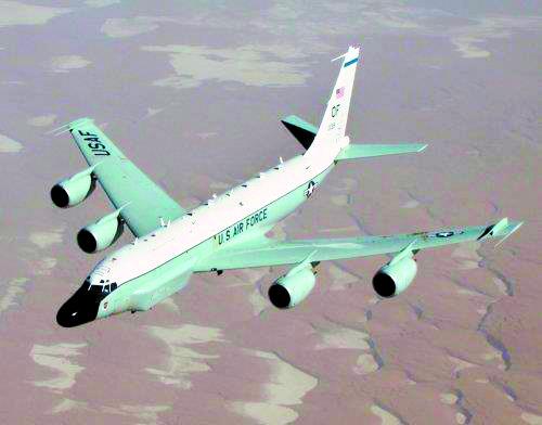 미 공군 소속 RC-135W 리벳 조인트. [연합뉴스]