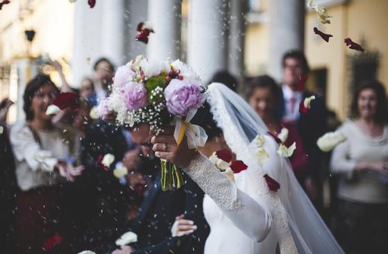 결혼식의 한 장면. [pixabay]