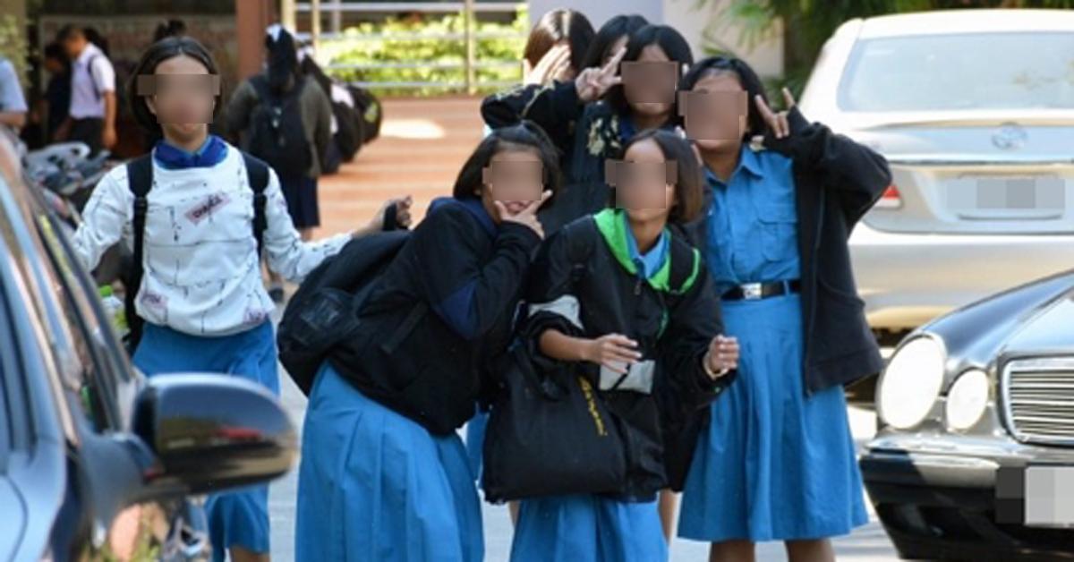 태국 학교의 여학생들. [카오솟 캡처=연합뉴스]