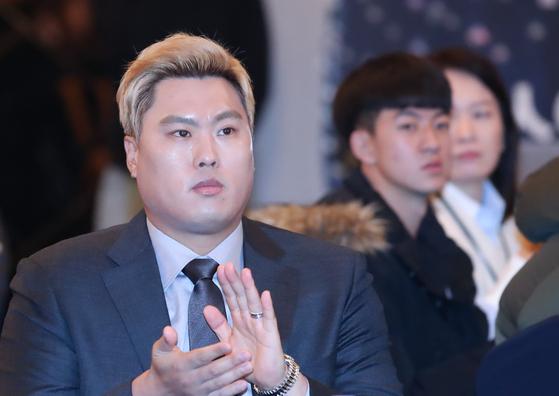 지난 13일 '스포츠인권 선서의 날 행사'에 참석한 류현진.  [연합뉴스]