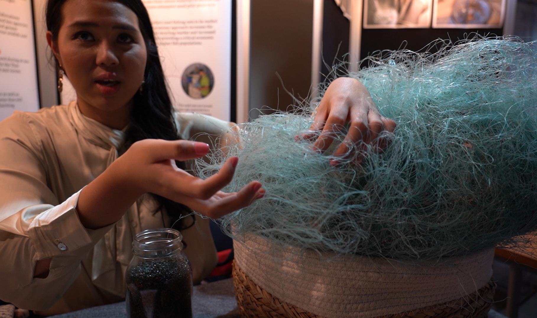 태국 환경단체 EJF(Environmental Justice Foundation)의 활동가 잉팟 팍체라차쿨. 지금은 폐 낚시줄을 재활용하는 프로젝트를 진행하고 있다. 김정연 기자