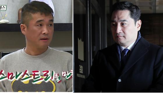 가수 김건모(왼쪽)와 강용석 변호사. [사진 SBS, 연합뉴스]