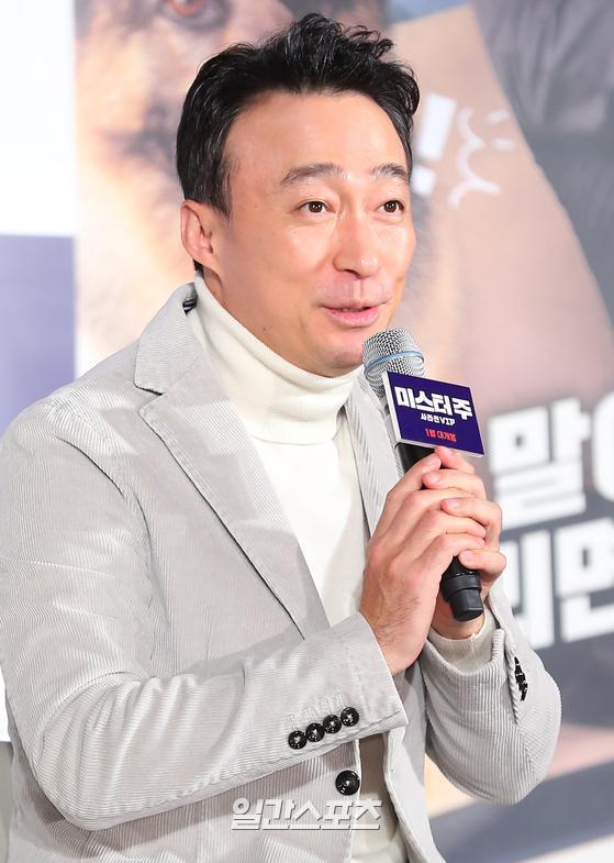 배우 이성민이 19일 서울 동대문 메가박스에서 열린 영화 '미스터 주' 제작보고회에 참석했다. / 사진=박세완 기자
