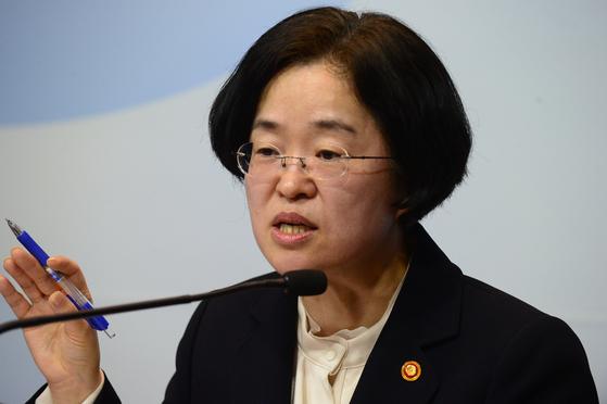 조성욱 공정거래위원장이 19일 정부세종청사에서 열린 기자간담회에서 발언하고 있다. [공정위]