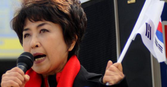 전 KBS 아나운서이자 전 대한애국당 사무총장이었던 고 정미홍씨. [중앙포토]