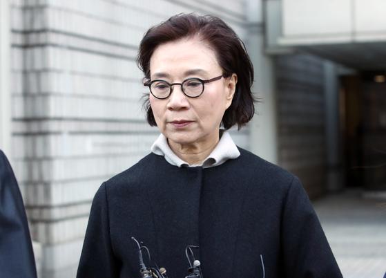 항소심 선고공판 마친 이명희 전 일우재단 이사장. [연합뉴스]