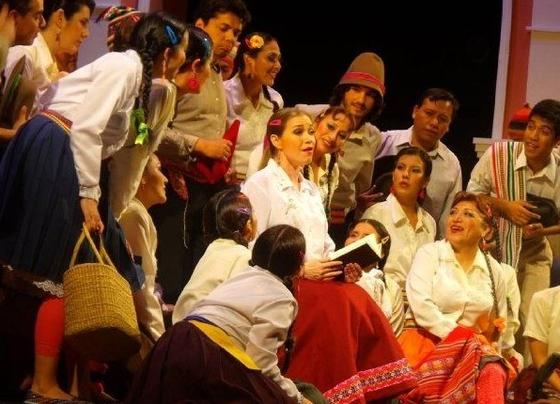 마을사람들에게 책을 읽어주는 아디나. [사진 Flickr]