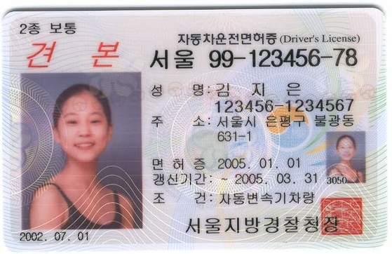 운전면허증 견본 [중앙일보]