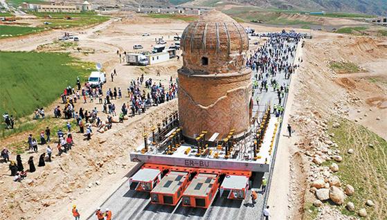 터키 유적 이사 ... 23개 총 1만2063t 통째로 옮겼다