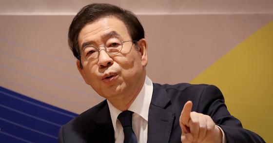 박원순 서울시장이 부동산 공유제를 서울시에 처음 도입하겠다고 27일 발표했다. [연합뉴스]