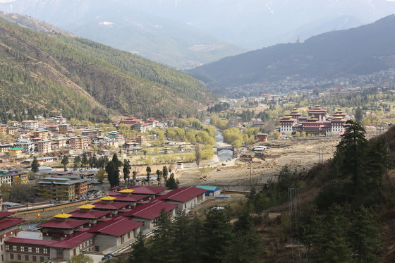 Bhutan Thimphu city view