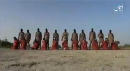 극단주의 무장세력 이슬람국가(IS)가 전 세계 기독교인들에게 보내는 메시지라며 배포한 참수 동영상. [IS 선전매체 아마크 캡처]
