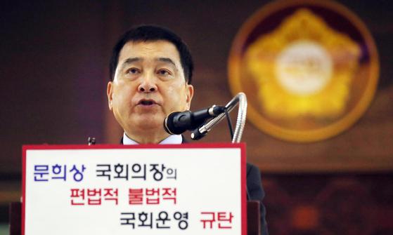심재철 자유한국당 원내대표. [뉴스1]