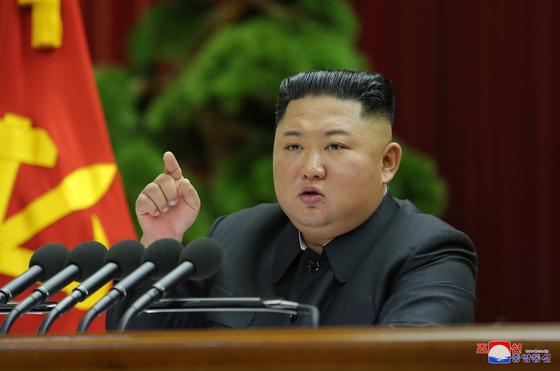 28일 북한 노동당 제7기 제5차 전원회의가 평양에서 열렸다고 조선중앙통신이 29일 보도했다. [연합뉴스]