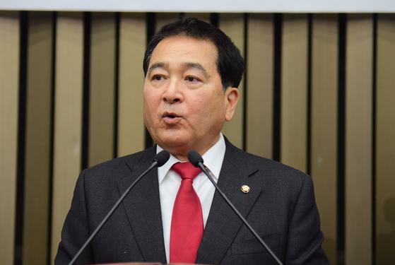 자유한국당 심재철 원내대표. 김경록 기자