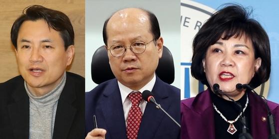 자유한국당 김진태, 이종명, 김순례 의원. [사진 연합뉴스, 뉴스1]
