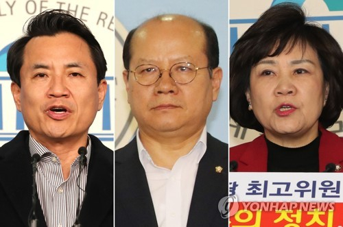 왼쪽부터 김진태·이종명·김순례 자유한국당 의원. [연합뉴스]