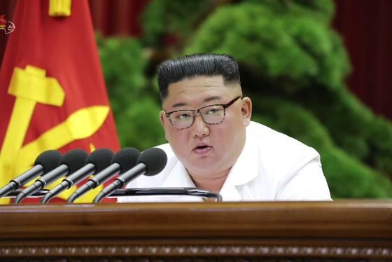 김정은 북한 노동당 위원장이 이틀째 진행된 노동당 7기 5차 전원회의를 직접 주재했다고 북한 매체들이 30일 보도했다.[연합뉴스]