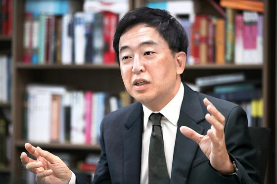 금태섭 더불어민주당 의원이 중앙일보와 인터뷰하고 있다. 오종택 기자