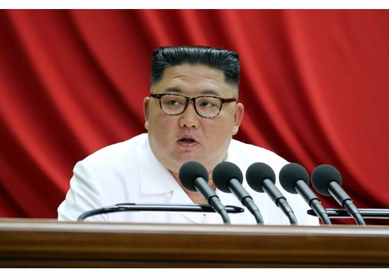 북한이 30일 노동당 7기 5차 전원회의를 사흘째 진행했다. 김정은 북한 노동당 위원장은 이날도 사업 총화 보고를 했다고 북한 매체들이 전했다. [사진 노동신문]